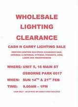 Wholesale Lighting Clearance Osborne Park Stirling Area Preview