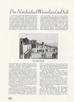 Sylt Westerland Strandpromenade Rotes Kliff Kampen Bilder Artikel von 1926