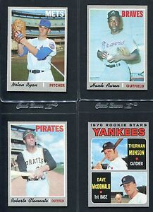 1970 TOPPS BASEBALL HIGH GRADE COMPLETE SET 1-720 EX-MT/NM