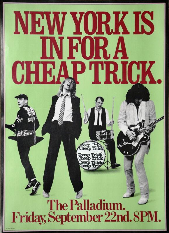 Cheap Trick Live At The Palladium New York Vintage Original 1978 Concert Poster