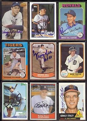 "MARK ""The Bird"" FIDRYCH  - Tigers *DECEASED* 1981 Fleer SIGNED /  AUTOGRAPH Card"