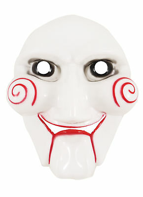 Adult Horror Scary Halloween Adult Jigsaw Face Mask Vampire Fancy Dress Mask (Jigsaw Face Mask)