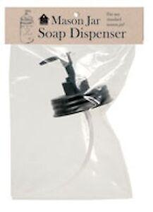 Mason Jar Soap / Lotion Dispenser Lid & Pump in Black - Farmhouse Kitchen Bath