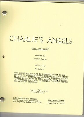 "CHARLIE'S ANGELS Show Script ""Game, Set, Death"""