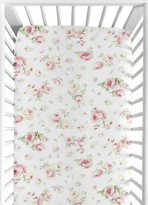 Fitted Crib Toddler Sheet For Sweet Jojo Riley Roses Bedding