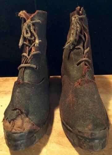 Civil War Era Child Shoe Leather Wood Sole