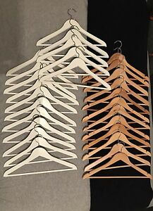 White Wooden Coat Hangers South Lake Cockburn Area Preview