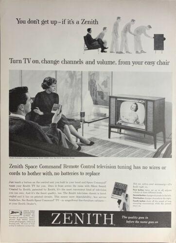 Vintage 1959 Zenith Space Command Remote Control TV Print Ad Advertisement