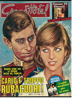 GRAND HOTEL 5 FEBBRAIO 1981 PRINCIPE CARLO LADY DIANA JULIO IGLESIAS CICCIOLINA