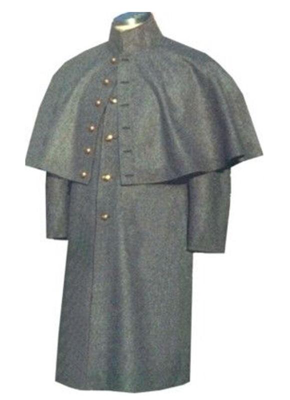 New Civil War Greatcoat Cloak Confederate Enlisted Reenactment S M L XL XXL