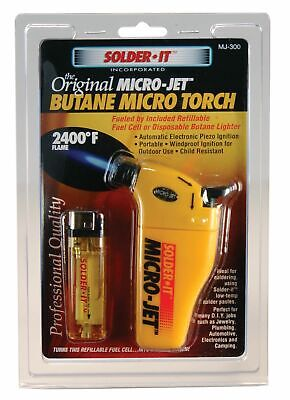 Micro-jet Automatic Ignition Torch Refillable Fuel Cell Included