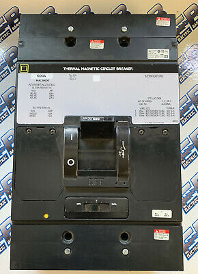 Square D Mal36600 600a 600v 3p Grey Breaker -testedtest Reportwarranty