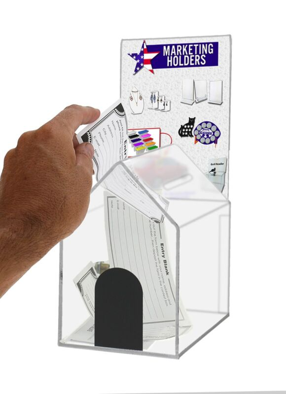 Large Acrylic House Coin/Suggestion Box with Header