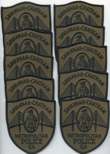 SAVANNAH CHATHAM COUNTY GEORGIA Trade Stock 10 Police Patches METRO POLICE PATCH