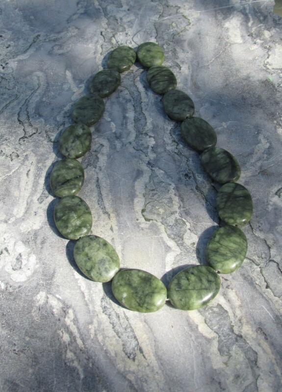 GENUINE Connemara marble 25x18mm Beads x 16 Guaranteed Irish