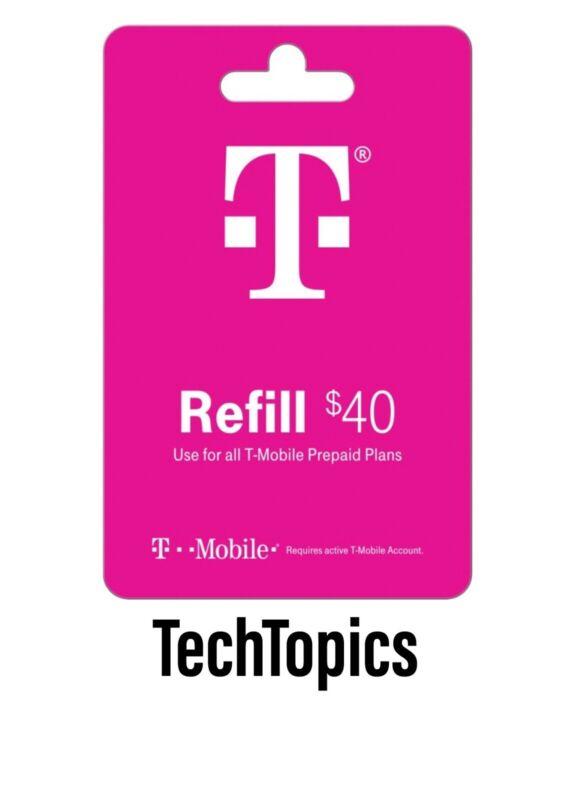 T-Mobile Prepaid $40 Refill Card (Direct)