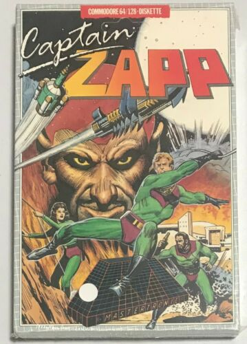 CAPTAIN ZAPP Mastertronic Commodore 64 128 Game New Sealed Mint