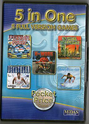 Pinball | Decathalon | H Wars | Bodyboarders | Win 95 98 XP (7 8 10 see listing)