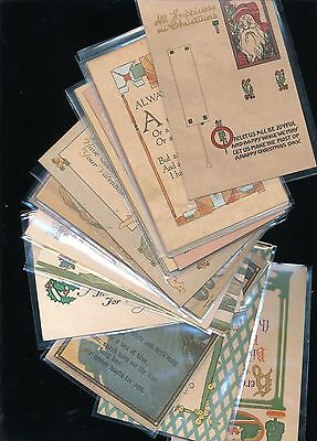 Big Lot of Early Arts & Crafts GREETINGS Collectible 1900's Postcards-a837