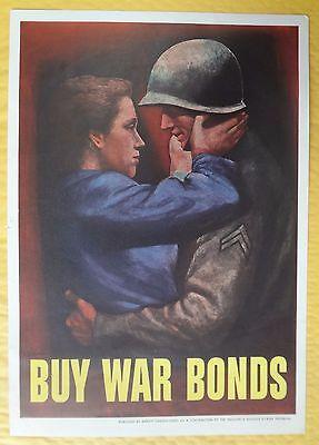 KAPPYSSTAMP  RARE WWII    BUY WAR BONDS POSTER    BY ABBOTT LABORATORIES