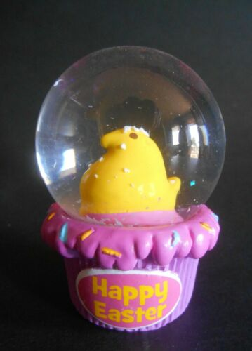 Ruz Peeps Brand MINI Water Globe Yellow Chick EASTER Snowglobe NEW Just Born