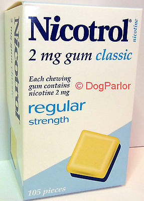 Nicotrol 2mg CLASSIC Nicotine Gum 6 Boxes 630 Pieces