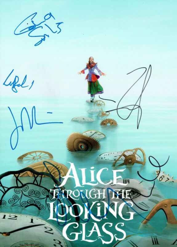 Alice through The Looking Glass CAST SIGNED 16X12 Photo DEPP (C) AFTAL OnlineCOA