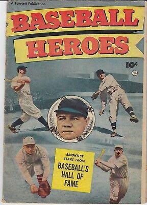 Baseball Heroes (1952) Fawcett Publications Babe Ruth, Ty Cobb! Scarce!