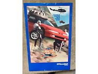 BMW M-1 Mylar BF Goodrich Comp Radial TA Car Poster Original From the 1980/'s