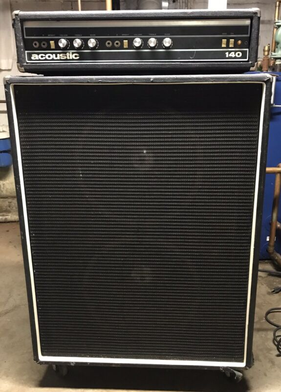 Acoustic Amp 140 Amplifier 2 X 15 Cabinet Vintage 1970's Very Good Condition