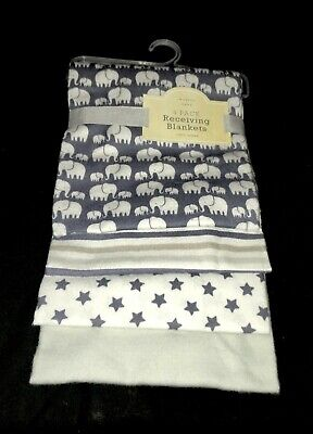 """NEW!  Baby Boys 4 pc """"Modern Baby"""" RECEIVING BLANKETS  NWT"""