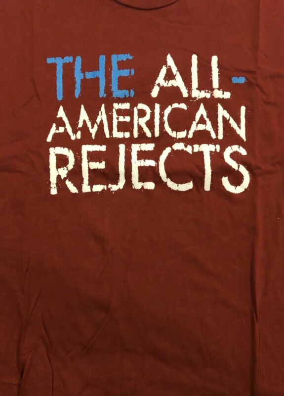 The All-American Rejects Name Logo Maroon T-Shirt LRG Rare Classic Band