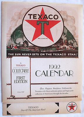 1992 TEXACO RETRO 1920'S THEME COLLECTABLE FIRST EDITION WALL CALENDAR NOS