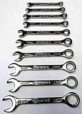 Kobalt 23450-23459 10 Piece Metric Midget Combination Wrench Set USA