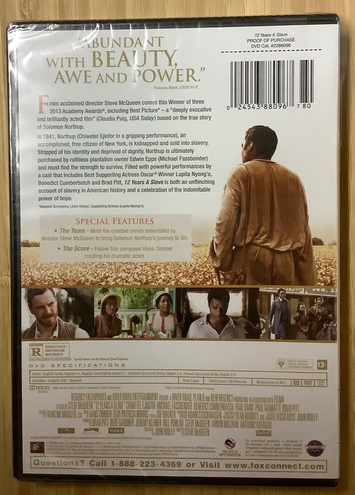 12 Years A Slave 2013 DVD Chiwetel Ejiofor Michael Fassbender NEW SEALED - $10.00