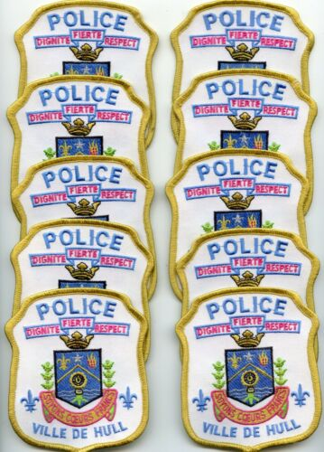 VILLE DE HULL QUEBEC CANADA Patch Lot Trade Stock 10 Police Patches POLICE PATCH