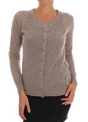 Ermanno Scervino Women Sweaters Cardigans (NEW $250 Ermanno Scervino Lingerie Knit Brown Wool Sweater Cardigan IT48 / US XL )
