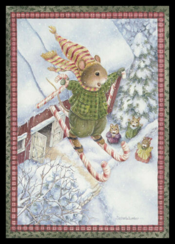 1069GC Susan Wheeler - Mouse - Christmas Greeting Card