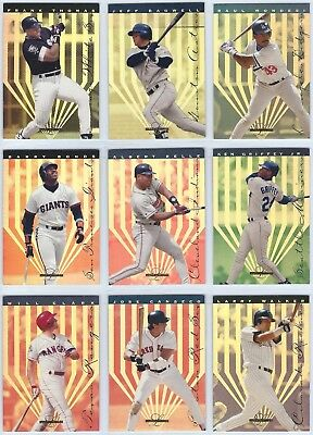 1995 Leaf Limited Gold Insert You Pick the Card / Player Finish Your Set Gold Leaf Finish Set