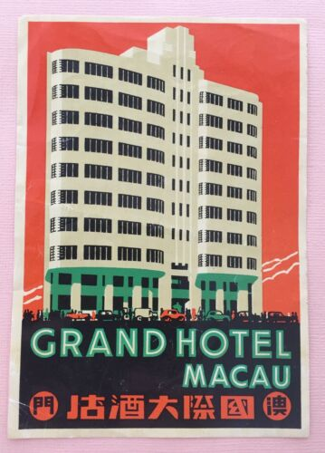 Luggage Label Grand Hotel Macau