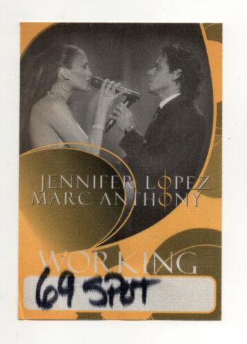 Jennifer Lopez & Marc Anthony 2007 Tour Working Crew Satin Backstage Pass Yellow