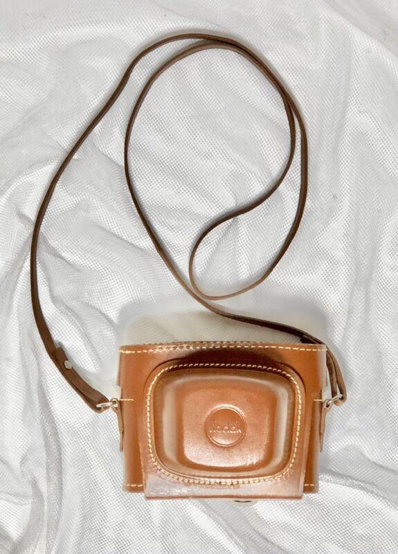 VTG Brown Leather Field Case for Kodak Signet 35 mm Camera 1950s Rochester NY