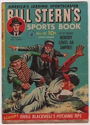 Bill Stern's Sport Book #10 Whitney painted cover 1951 baseball create-a-lot