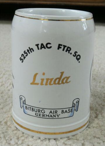 Germany United States Air Force Bitburg 525 Tactical Squadron Beer Mug .5 Liter