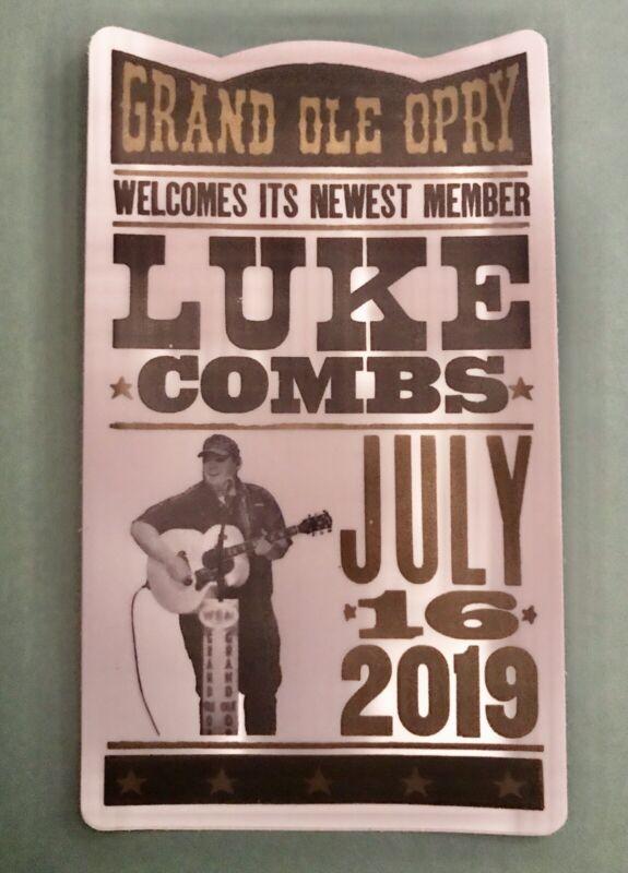 "LUKE COMBS 3X5"" Vinyl DECAL/STICKER GRAND OLE OPRY INDUCTION NIGHT 7/16/19"