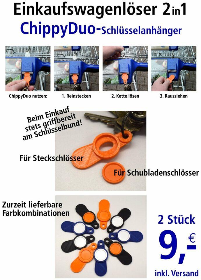 Einkaufswagenlöser Chip Einkaufswagen Schlüsselanhänger ChippyDuo in Neuenkirchen