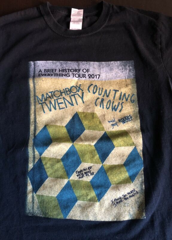 Counting Crows / Matchbox 20 - 2017 Tour T-Shirt - Size: S - A Brief History