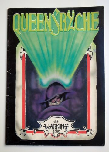 VTG QUEENSRYCHE The Warning 1984 AUTOGRAPHED tour Book