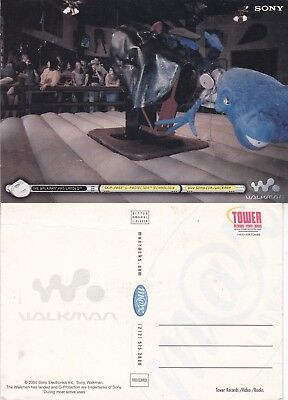 SONY WALKMAN UNUSED ADVERTISING COLOUR  POSTCARD (a)