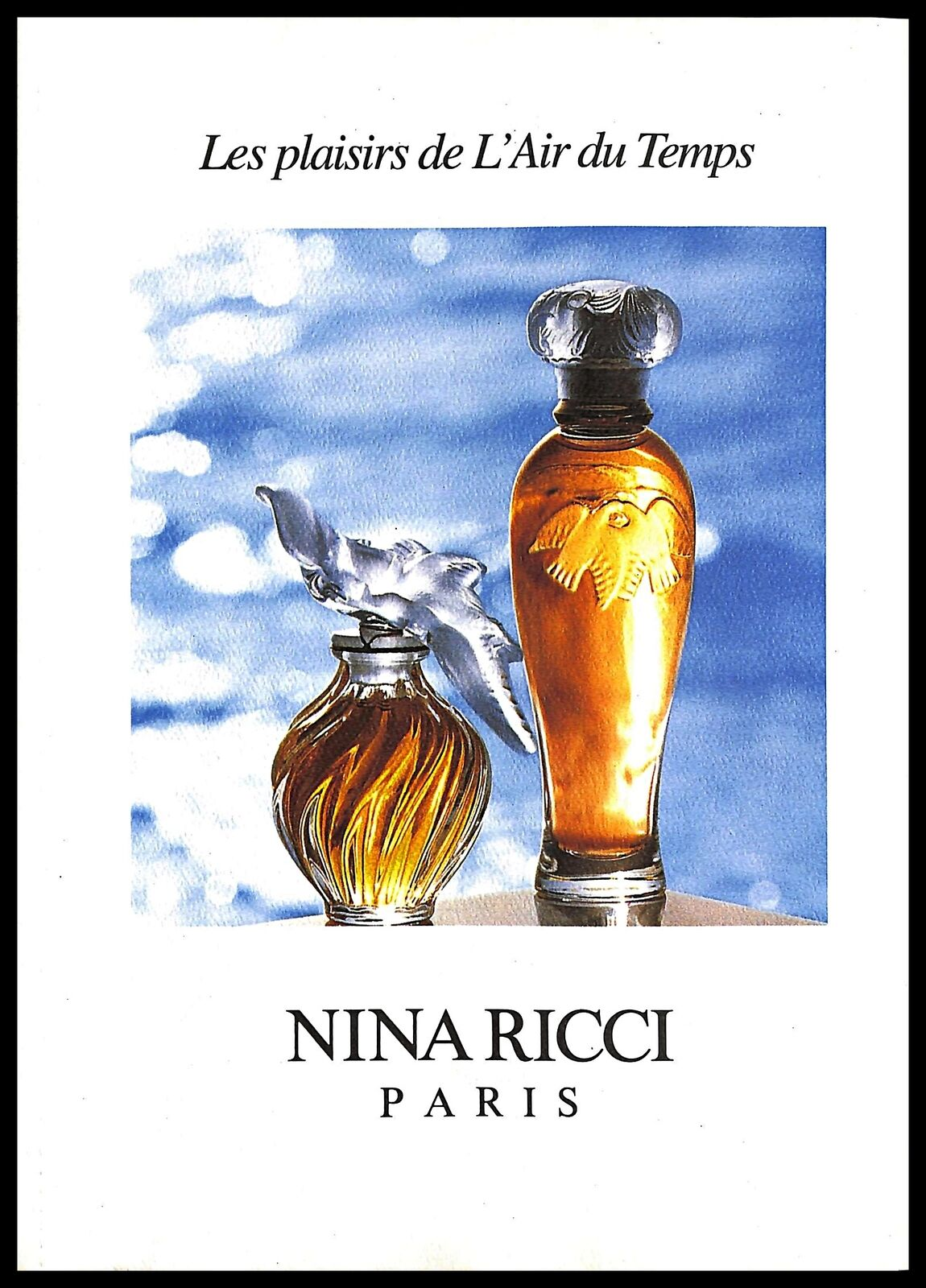 Detalles de 1993 L 'air Du Temps Nina Ricci Perfume Fragancia Publicidad Vintage Impresión ver título original